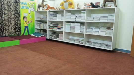 Library with books for students