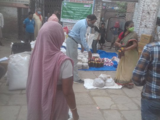 Ration distribution to women