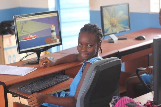 FAWE girl computer lab