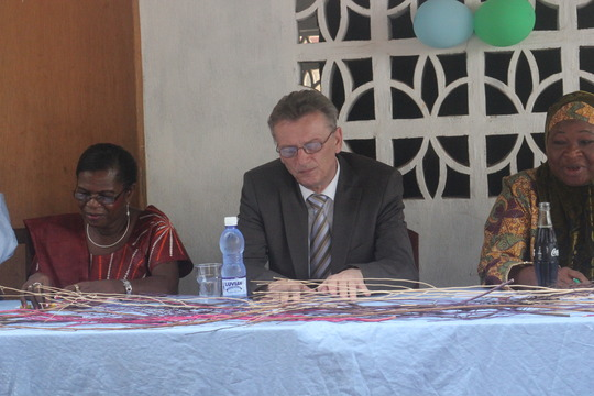 part of high table at dedication
