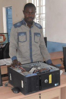 Maada replacing a broken power supply