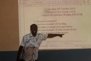 Ishmael, Instructor teaches...