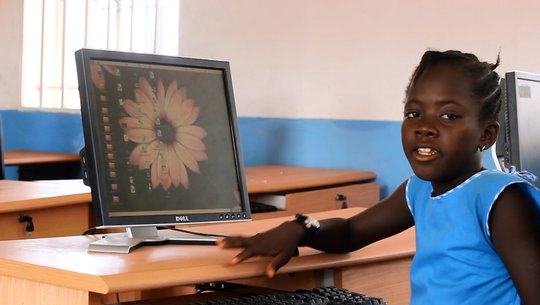 Adolpha in computer lab