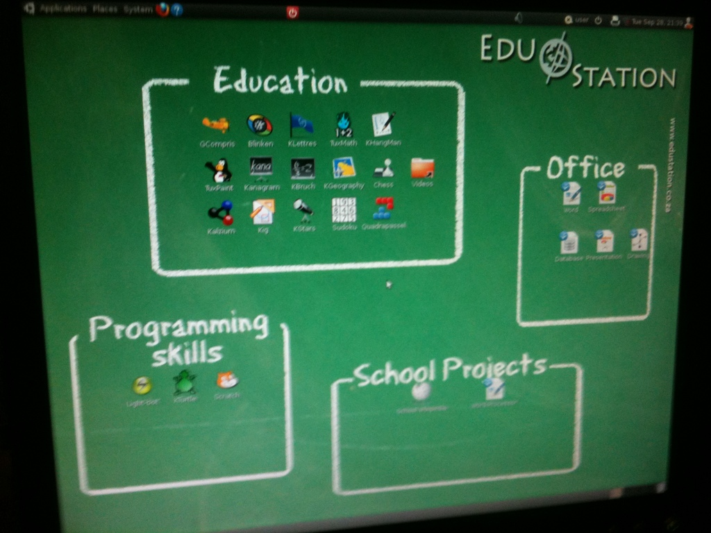 Educational software - computer desktop