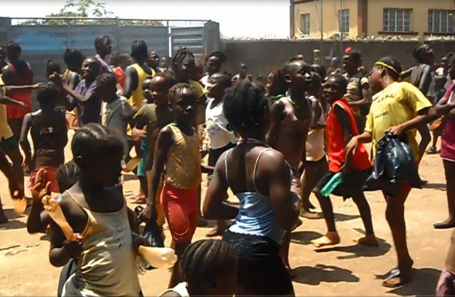 Girls playing at FAWE school