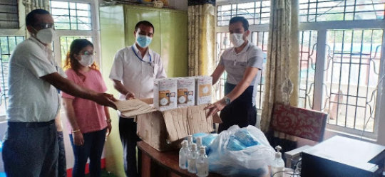 Relief Nepal delivering hygiene kits