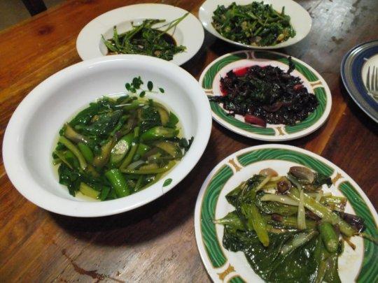 presentation of vegetables