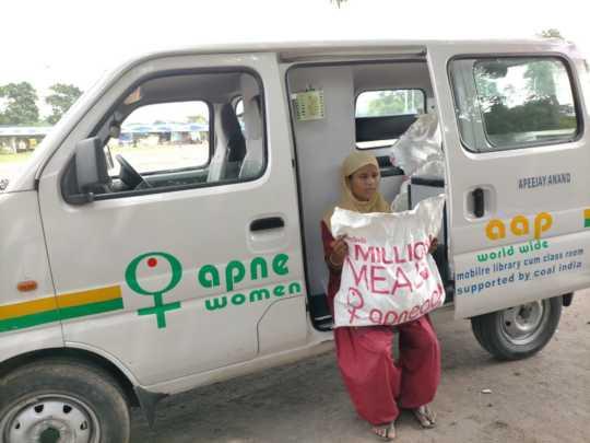 Victim of Sex-Trafficking in Kolkata with food kit