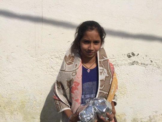 Apne Aap food distribution in Najafgarh