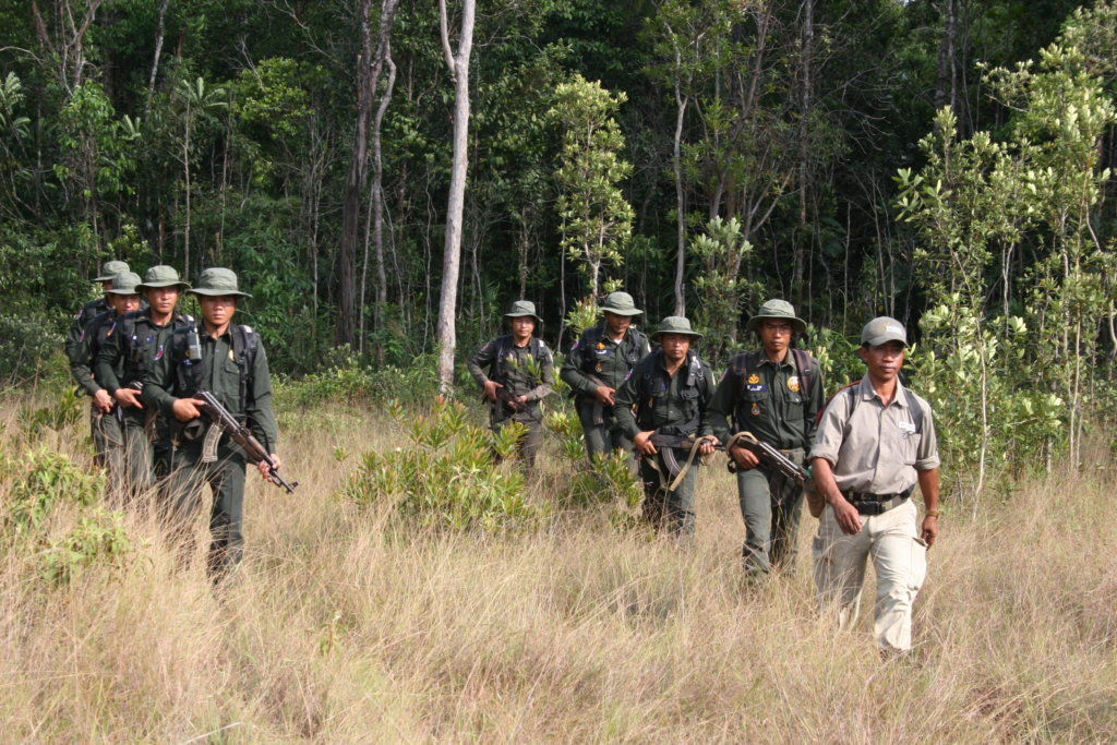 Forest rangers on patrol
