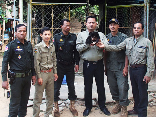 Tatai station with rescued cub