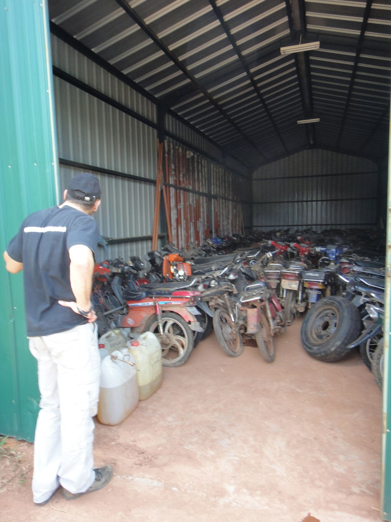Confiscated Motorbikes from Illegal Activity