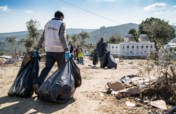 Clearing 1750 tons of waste in Greek refugee camps