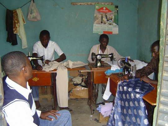 Local tailor jobs created by the project