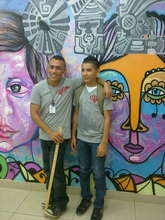 Gerald & Oscar put finishing touches on KM2 Mural