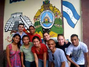 Arte la Calle mural project in local school, 2012