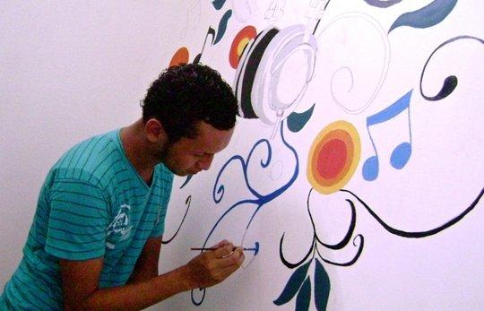 OYE's art program in action