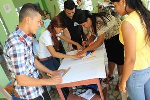 Aspiring new scholars during selection process.
