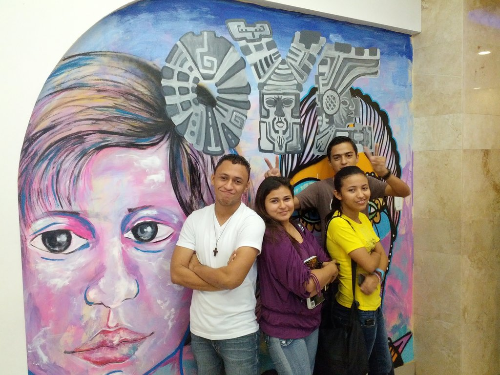OYE Students in front of OYE Art