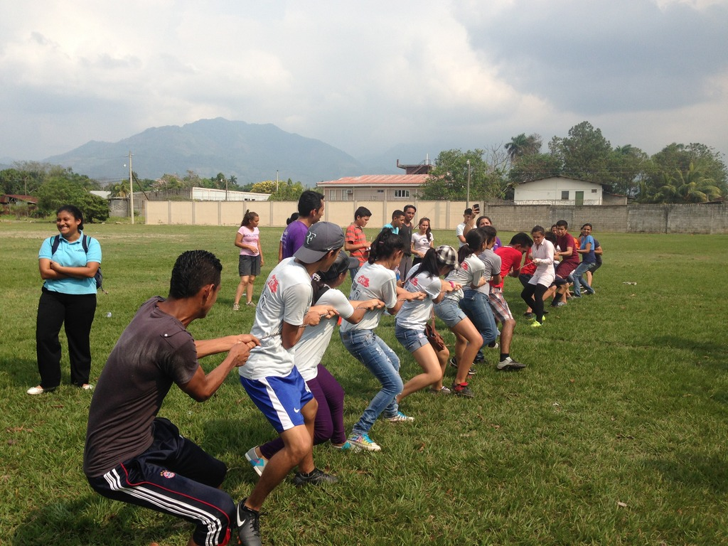 Tug-of-war during sports project