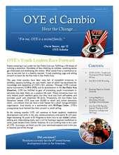 OYE el Cambio: Summer 2012 Newsletter (PDF)
