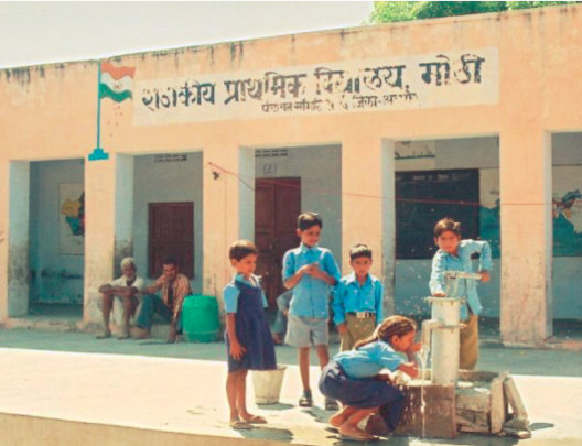Clean drinking water for school children in India