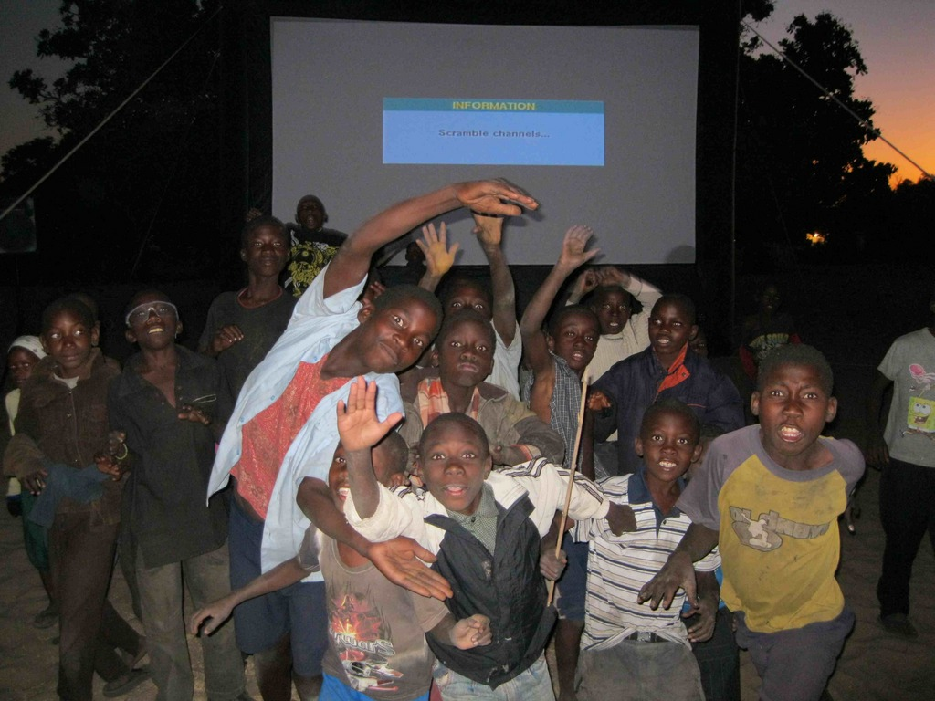 Excited Kids in Mongu, Zambia