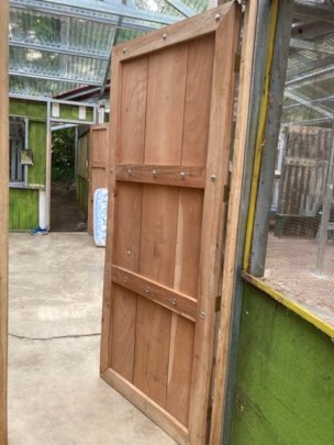 One of the new doors