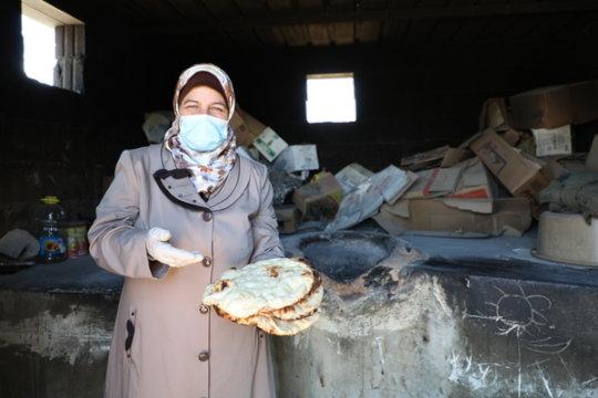 Cash grant recipient bakes bread for income