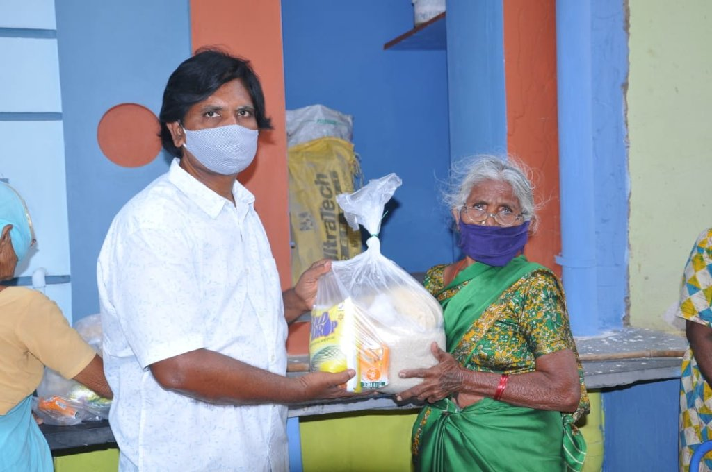 Provide Food Groceries to poor Grandparents India