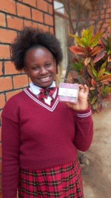 Nkumbu learns about menstrual cups