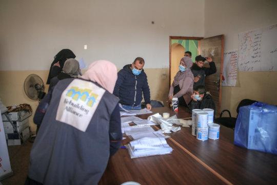 Our NGO partners organizing distribution
