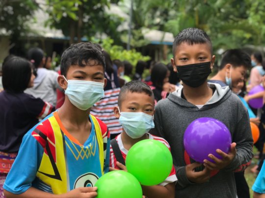 Children enjoy outdoor games