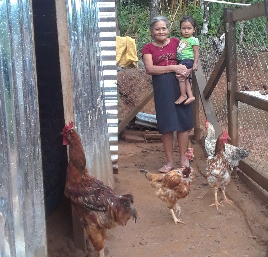 Vicenta, Granddaughter, and Hens