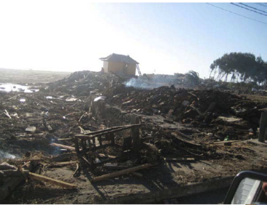 What is left of the coastal towns of Pesca, Ilocaa