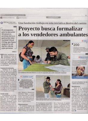 El Norte newspaper press release. 1-9-2020