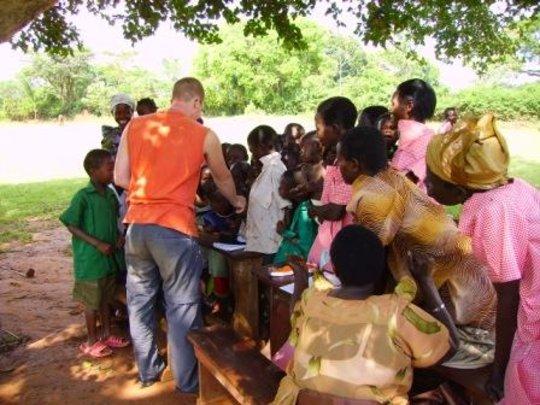 Volunteer Sensitizing Community on Child Rights