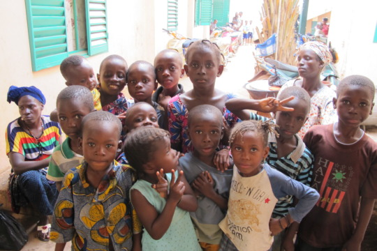Kids at the clinic for the nutrition program