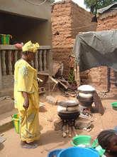 Preparing the meal