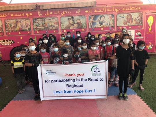 Hope Bus kids celebrate the Road to Baghdad!