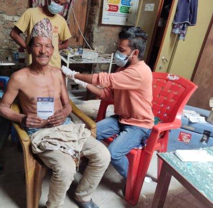 PHASE staff providing COVID-19 vaccination