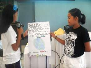 Kids shared their commitment to save the earth