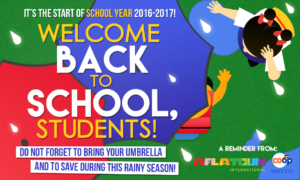Welcoming the school year 2016-2017!