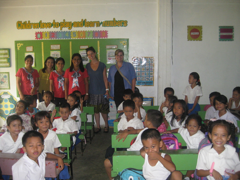Money collection day in a school of Guimaras