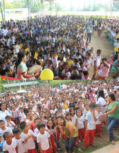 Hundreds of children join the Aflatoun launch
