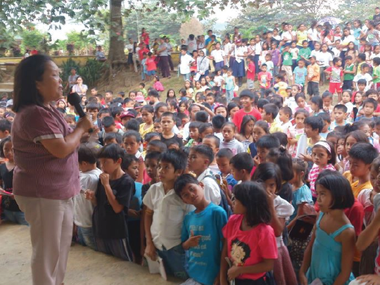 Students gather together to welcome Aflatoun