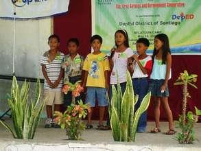 Children singing during Aflatoun Camp