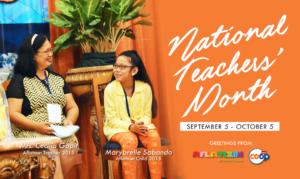 September: National Teacher's Month