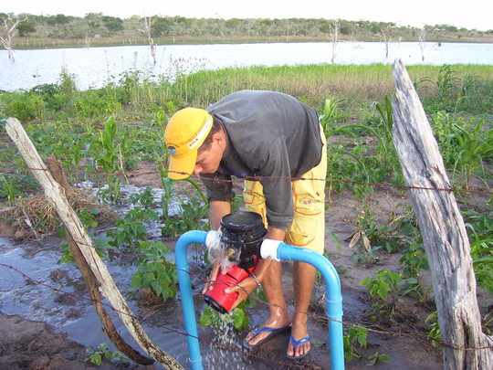 Testing the benefits of an irrigation system