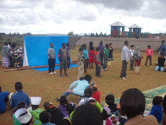 Parents enjoying the performance